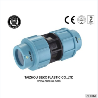 pp plastic compression water pipe fitting top supplier fluid quick coupling (20mm-110mm)