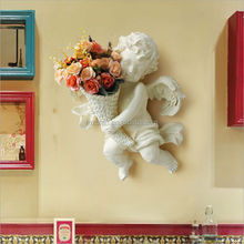 Resin crafts Angel creative vases wall painting home accessories vases wall hangings decorated 15145