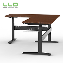 Healthy Life Office Steady Automatic L Shaped Workstation Adjustable Height Table Top /Sit Stand Desk