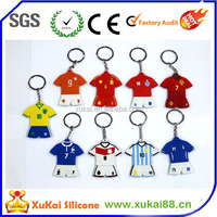 2014 world cup polo shirt silicone keychains