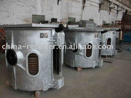 induction electric melting steel iron copper Al scrap furnace