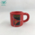 Factory supply cheap red copper round shape souvenir ceramic coffee cup