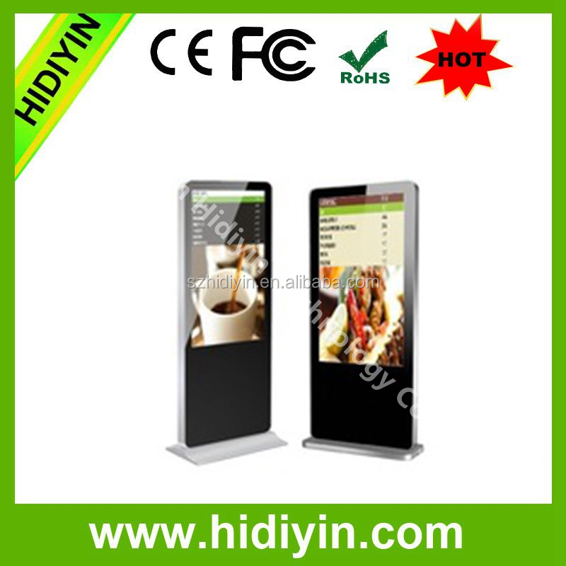 Shenzhen cheap HD video player 42 inch LED display floor standing replacement lcd tv screen digital signage