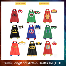 2016 Best selling kids cape dresses cosplay super hero cape and mask