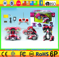 8ch transform rc car with music Voice transforming 360 degree spinning