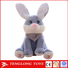New Design Rabbit Plush Toy Electronic Hide And Seek Rabbit