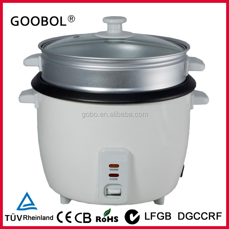 Glass Electric Steamer ~ Glass lid electric rice cooker ce cb rohs automatic drum