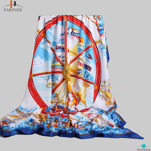 Hot Selling Summer Vintage Pattern Printed Decoration Fashion Large Women Scarf Beach Casual Sunscreen Cotton Shawl Pashmina