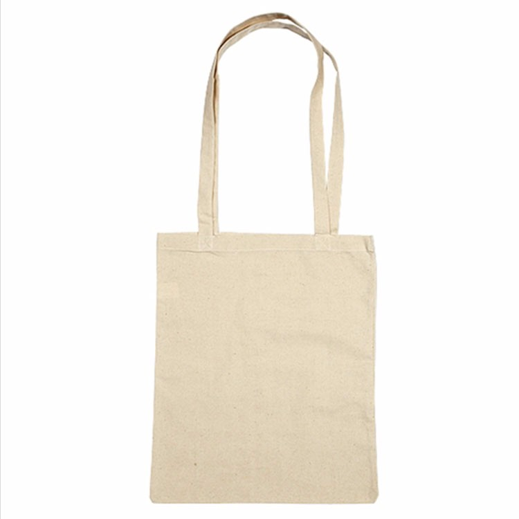 long handle X stitching shoulder cross cotton canvas material blank bulk tote bag