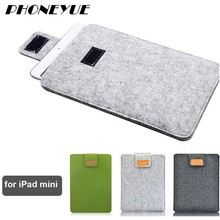 7.9 inch 2016 Universal Funda Laptop Sleeve Shell Skin Felt Tablet Bag Case Notebook Cover for iPad mini 1/2/3/4