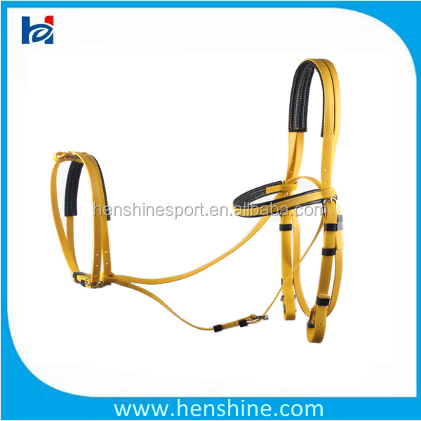 Colorful leather endurance waterproof pvc horse bridle