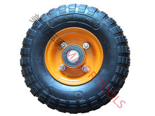 "10"" hard solid rubber tires 260x85 3.00-4 wheel for trolley"