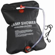 20L black solar heating outdoor camping shower bag emergency neccessity camping portable shower