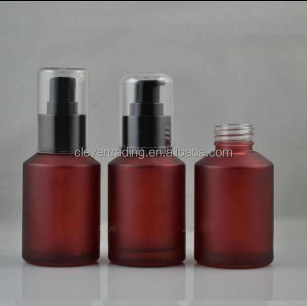 Frosted red wine color glass bottle frosted cosmetic for Where to buy colored wine bottles