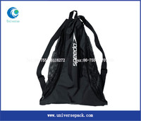 Drawstring Sealing & Handle and Hot Stamping Surface Handling raschel mesh bag