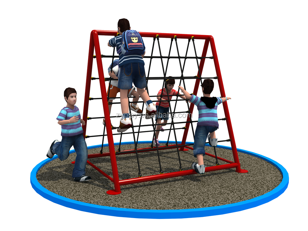 Outdoor Kids Rope Climbing Net Playground For Sale