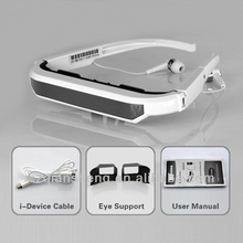 "72"" Widescreen Multimedia Player Portable Video 3D HD Glasses"