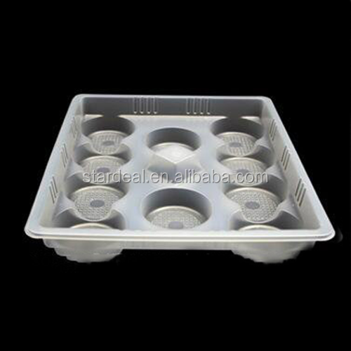 OEM design PET high quality white Blister plastic biscuit tray plastic cookies inner packaging tray
