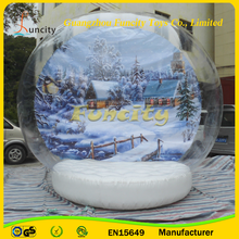 The most fascinating PVC/PVC tarpaulin inflatable snow globe, inflatable snow globe ball for promotion