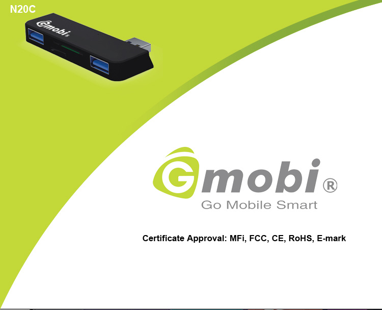 High Speed Gmobi 4-in-1 Connection Kit USB HUB 3.0+Card Reader Just Made For Surface 2/Pro 2