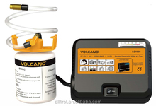 High tech tire repair kit system including tire inflator and safe nontoxic sealant