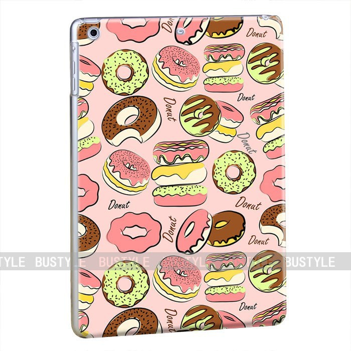 Wholesale 3D Donuts Custom Design Hard Plastic Case Cover for Apple iPad mini air High Quality iPad Protector