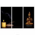 "Buddha Golden Seated Buddha Picture for Rome Decoration Zen Picture Canvas Prints(12""x24""x3/30cmx60cmx3)"