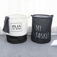 hot sale linen round fabric storage laundry basket for toys ,customized folding laundry basket