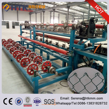 PLC Controlled Galvanized and PVC Coated Chain Link Fence Diamond Wire Mesh Machine