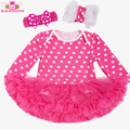 Cheap boutique Cotton Baby Girl Clothing Plain Baby Romper Set pettiskirt cotton baby long sleeve tutu romper