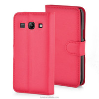 Wallet Flip PU Leather Case and Screen Protector For Samsung Galaxy Core Plus