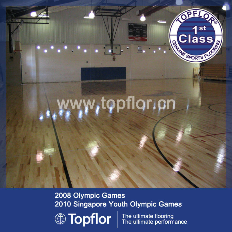 High elasticity pvc wooden sports flooring for basketball/volleyball/tennis/badminton