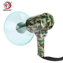 professional High power bullhorn handheld lighted ABS multifunction Megaphone