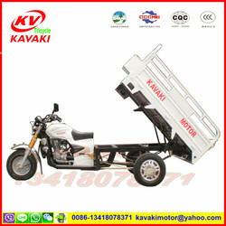 Guangzhou KAVAKI manufacturer CG200 three wheels motorcycle for cargo