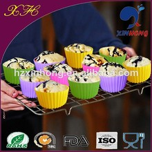 Hot Sale Promotionl Items SCP-01 12 Cup Silicone Muffin Pan