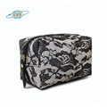 Lady women fashion wedding satin lace cosmetic bag makeup pouch