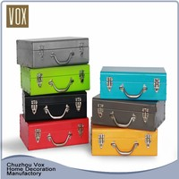Best quality Functional colorful storage trunk furniture metal large trunk box