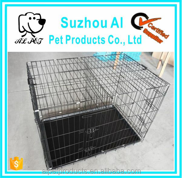Double Door Folding Metal Pet Dog Crate