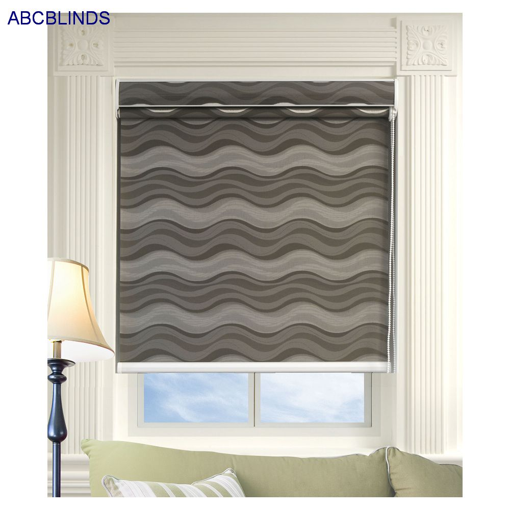 Deluxe Day and Night Roller Blind Double Bottom Bar For Hotel Curtain