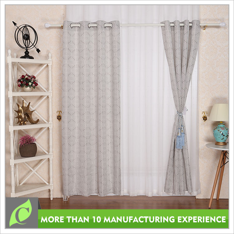 Window curtains design Jacquard Window use luxury curtains drapes