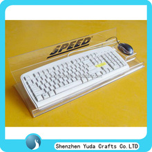 tablerop customized printed clear acrylic keyboard stand acrylic computer keyboard stand for sale