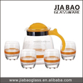 glass cup and 1pc glass pitcher glass tea pot,water jug set,drinking glass set GB12022/YH