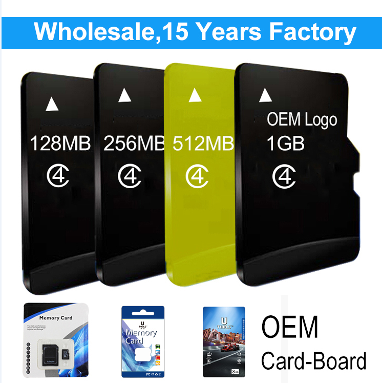 Shenzhen Factory Price 128MB 256MB 512MB 1GB Nano Size Provided Memory SD Card 16GB