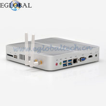 Eglobal Fanless PC i5 6200U Intel HD 520 Barebone Mini PC 4K Windows 10 VGA HDMI USB WIFI Bluetooth