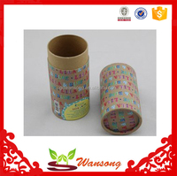 Different types paper tube box , cylindrical cardboard box with custom logo