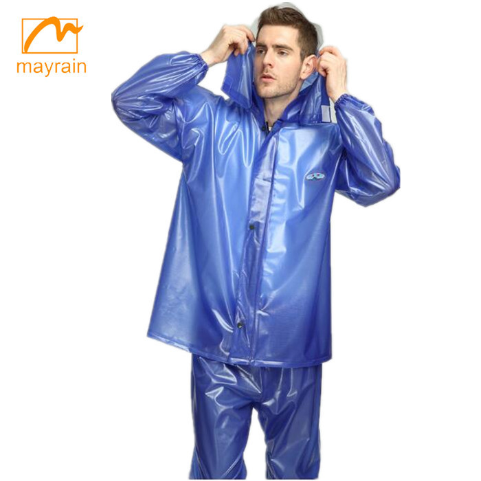 2 pieces light duty pvc rainsuit for promotion