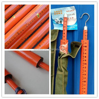 Telescopic fiberglass measurement rod/stick