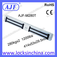 AJF top quality and security 600lbs or 560KG stainless steel electromagnetic lock for metal door