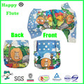 happyflute baby bamboo pocket cloth diaper position print reusable washable bulk sale factory