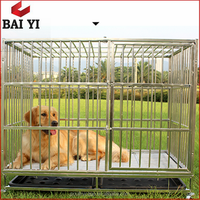 Heavy Duty Dog Cage with Two Doors/Square Tube Folding Metal Pet Kennel